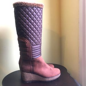 Cougar Quilted Knee High Boots